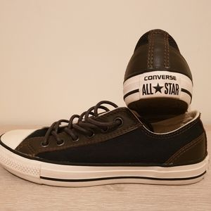 Converse All Satr Casual Shoes Navy/Brown As New.
